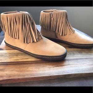 Aerosoles Women's Fringe Booties Size 8.5 US